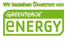 Wir beziehen Ökostrom von Greenpeace Energy