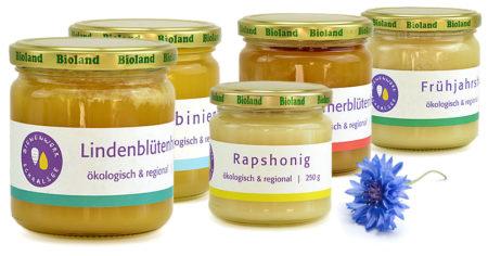 Honigsorten vom Bienenwerk Schaalsee